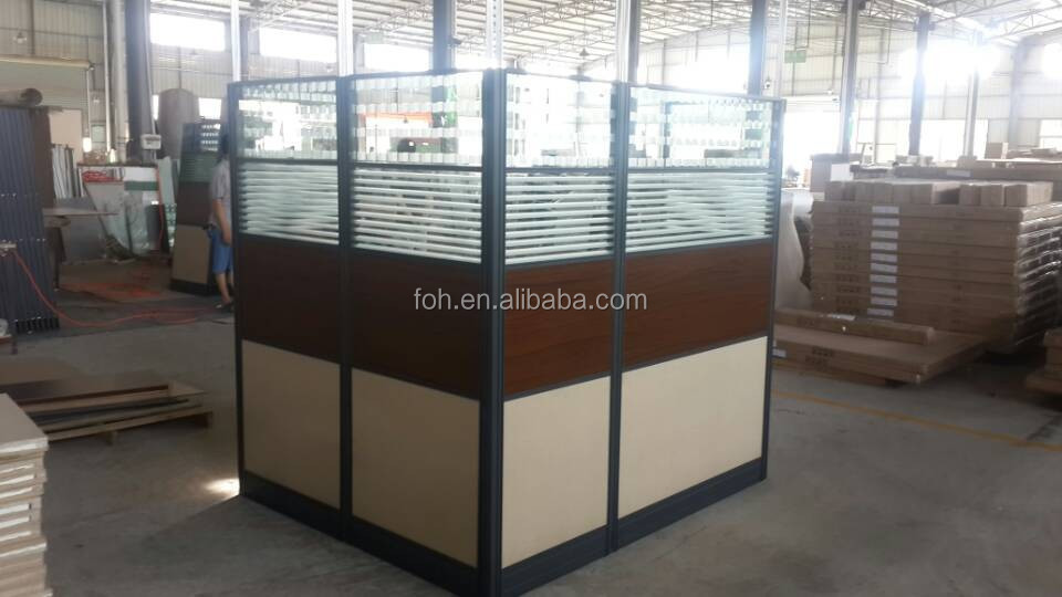 High Wall Office Cubicle Design,USA Style Quality Office Workstation Supplier,One Step Full Package Office Solution(FOHSH-258)