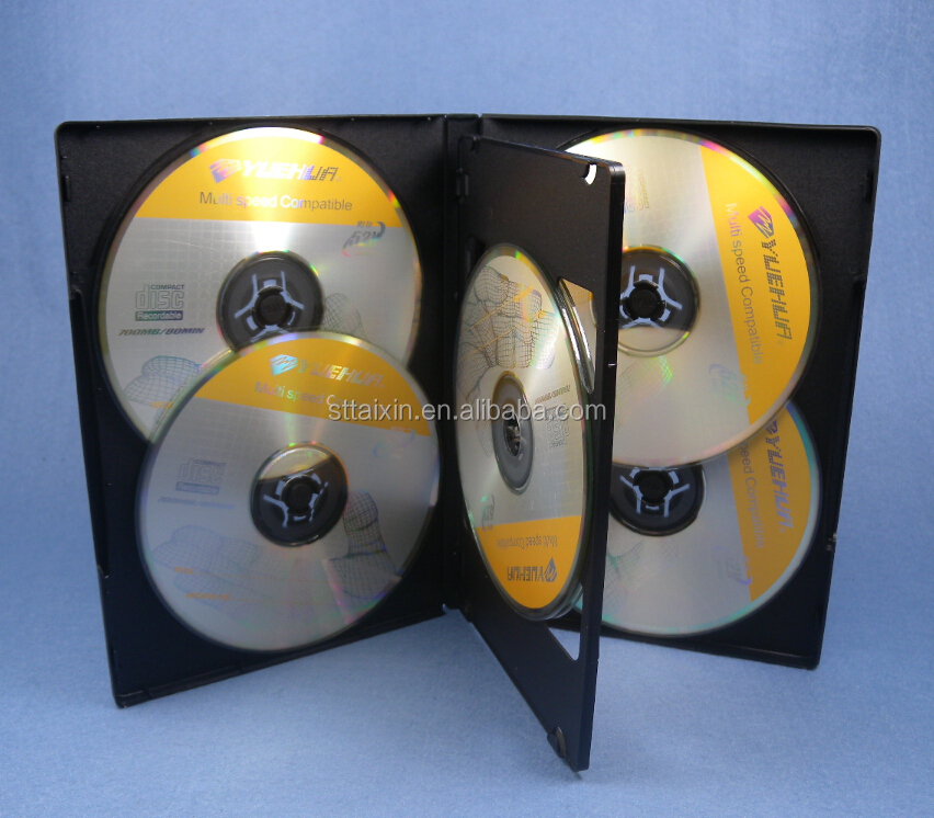 dvd box tray black 6 dvds