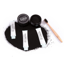 Coconut briquette activated charcoal powder for whitening teeth