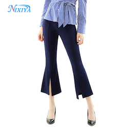 Ladies cool summer 9/10 long pant,women bell bottom casual suits pants