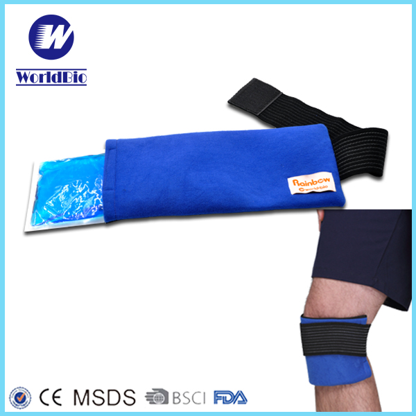ice pack reusable flexible Pain relief reusable hot and cold gel ice pack & wrap with strap for forehead neck elbow knee ankle