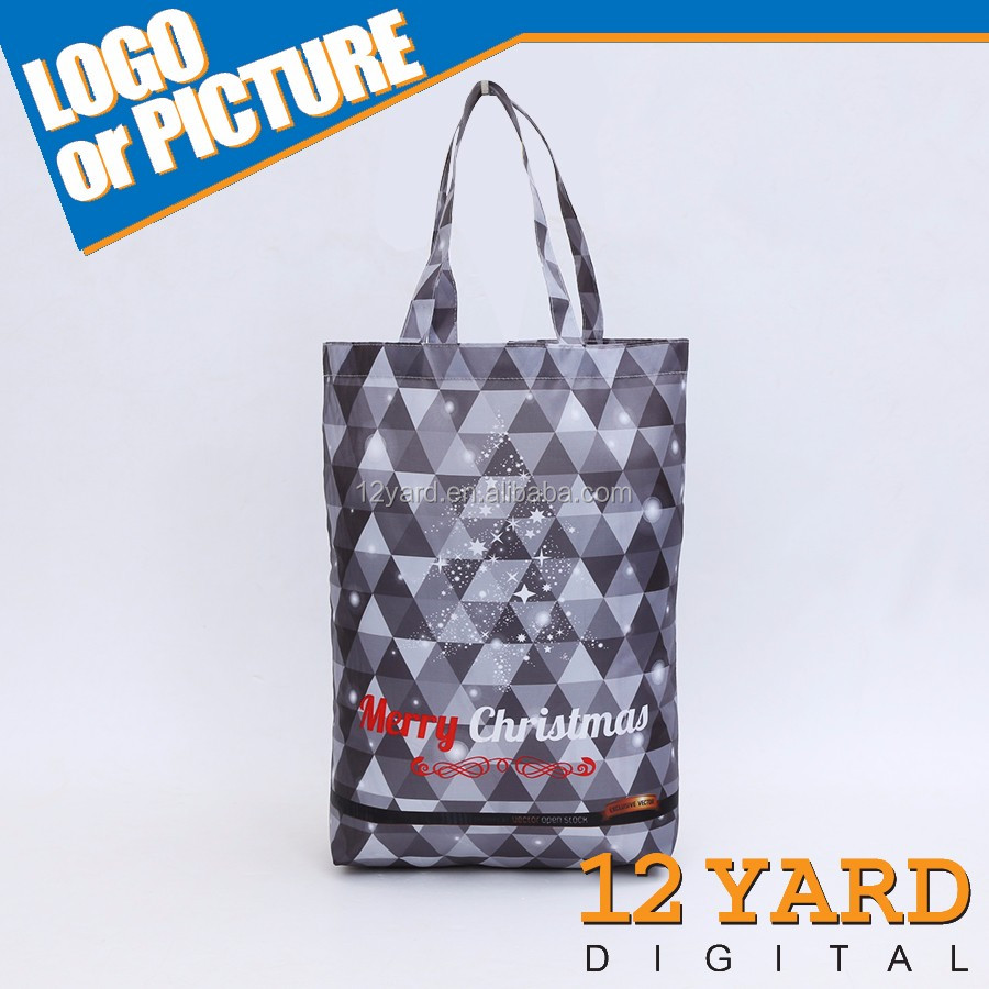 Promotional custom printed image recyclable plain shopping bag