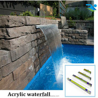 Swimming pool waterfall and fountain for outdoor water decoration