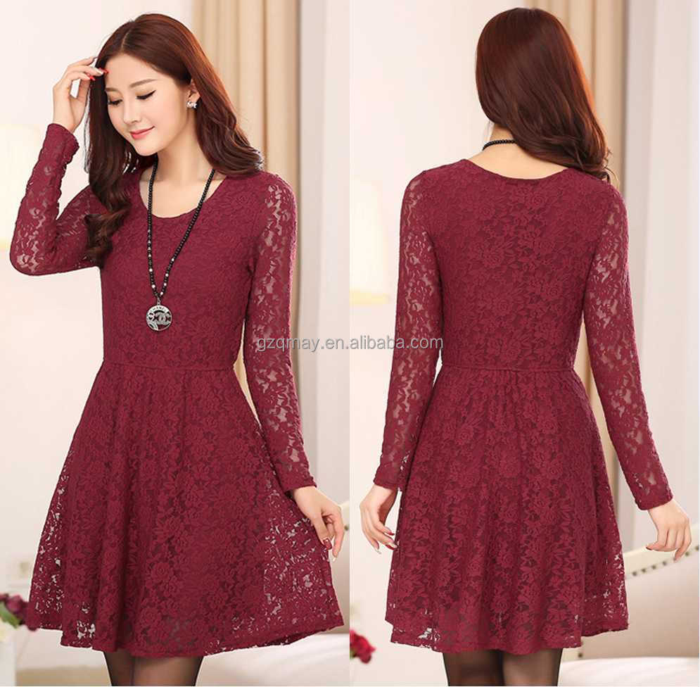 Hot Selling Alibaba China Clothing dubai islamic clothing bodycon dress picture/Ladies Fashion Lace Dress Clothes