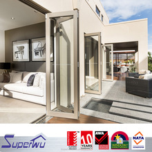 AU Standard Aluminium Double Glass heat insulated Bi-Folding Entry Door Philippines price and design For Living Room