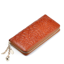 H163 ladies new design fashion top vintage genuine leather women's wallets