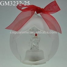 2013 hot sale frosted glass open hanging ball