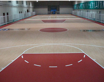 Indoor Roll wooden Basketball court floor mat