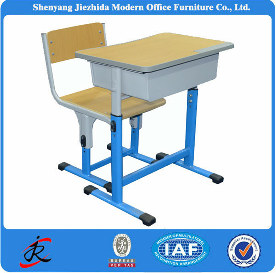 School Furniture Latest Kids Used Writing Table Metal Frame Plastic Student Desk and Chair
