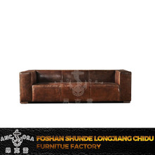 Simple design 3 seater leather sofa A115