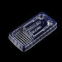 Customized clear blister packaging plastic headset tray