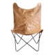 Modern vintage leather butterfly chair