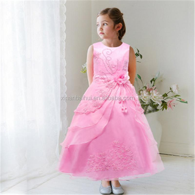 Europa y América estilo de gama alta vestido de boda bordado Niña ...