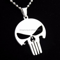 Custom shape stainless steel punisher skull Pendant