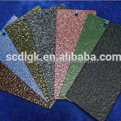 TGIC exterior coloured stone texture finish powder coating paint