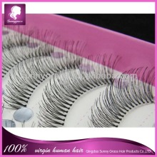 Hot selling Alibaba high style, high quality handmade 100% human hair wholesale false eyelashes