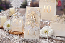Luxurious st5093 laser cut fairy tale wedding invitation card greeting card