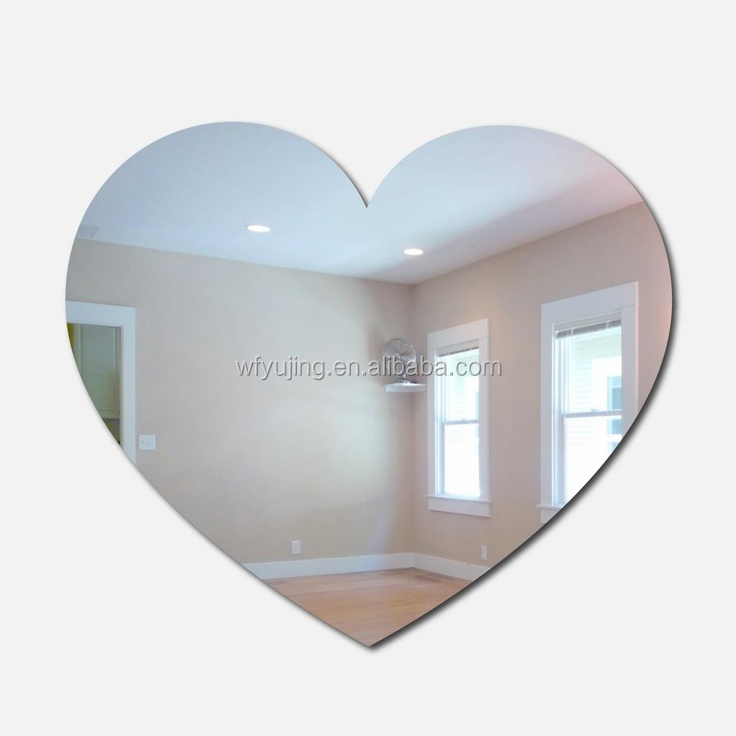cheap heart shape glass mirrors from China mirror factory
