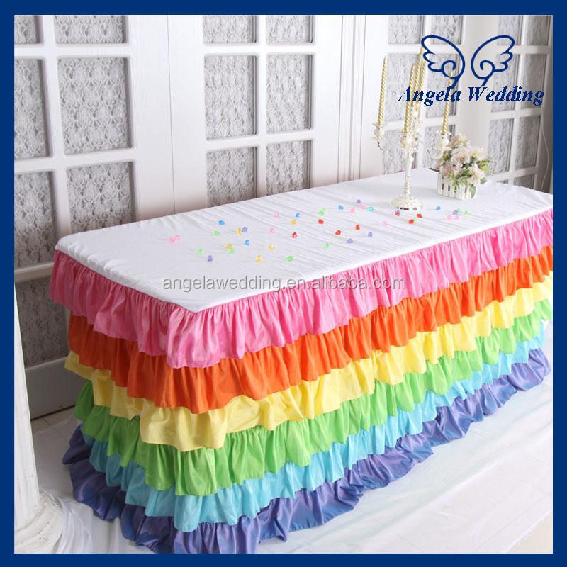Sk007a Wedding Hot Sale Taffeta Ruffled Decorative