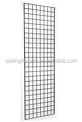 "24"" x 72"" wire metal Gridwall wall mounted Panels floor display, Set of 2 - Black"