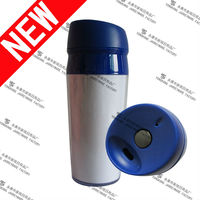 2014 New Item Double Wall Promotional Plastic Cups With Changeable Paper Insert