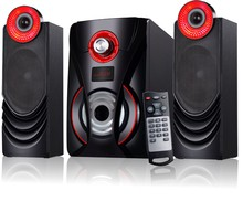 profesional 2.1 computer speaker system 2.1 speaker with usb sd fm remote