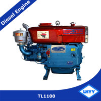 Water Cooled Style Single Cylinder Diesel Engine TL1100