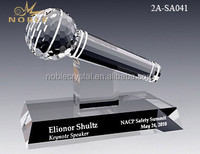 Exquistie Crystal Microphone Award Trophy