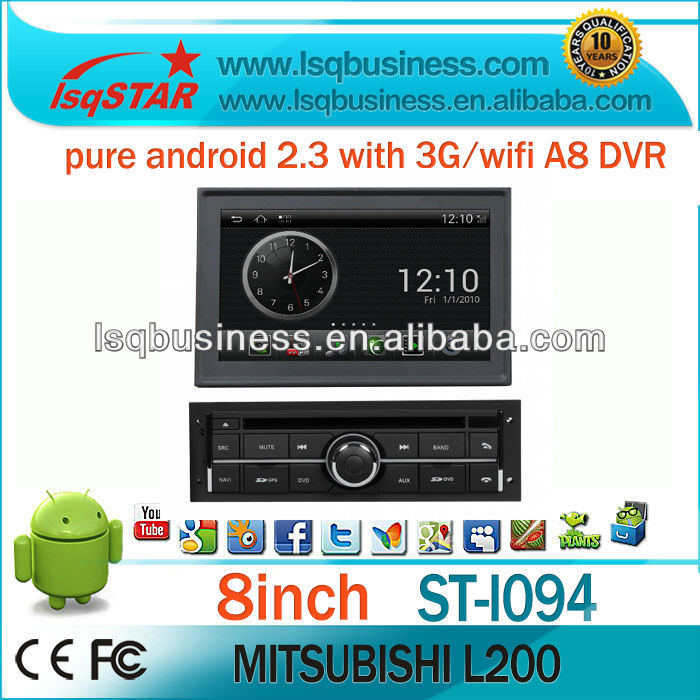 S150 android 2.3 auto central multimedia for Mitsubishi L200 with wifi/3G/gps/canbus/A8 on-sale!drive your life!