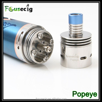 Big airflow control rebuildable atomizer Popeye colored rainbow smoke cigarett