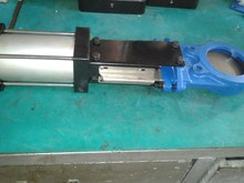 Pneumatic Knife Gate Valve with Protection Plate(GG25/GGG40/CI)