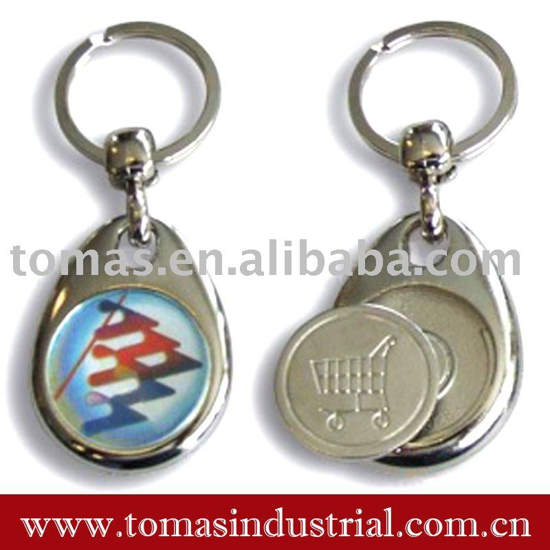 metal key chain with magnet coin