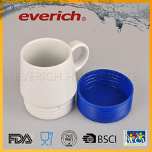 FDA Grade Blue White Eco-Friendly Unglazed Ceramic Mug