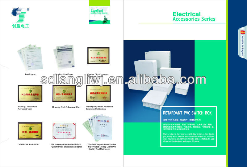Electrical Plastic PVC Junction Box