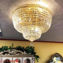 Crystal arabic ceiling lighting for hotel lobby decoration