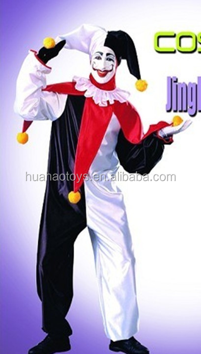 New Design Scary Halloween Party Clown Costume With Hilarity Party
