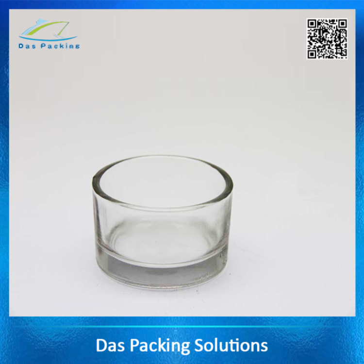 30ml hotsale customized polished sprayed glass candle jars for wedding