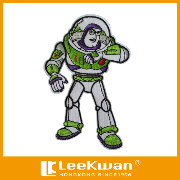New Design Sew-on Embroidered Buzz Lightyear Patch Applique For Kids Garments