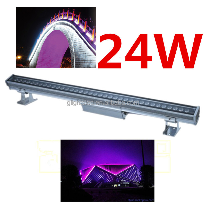 Waterproof RGB Building Facade Lighting LED Digital Tube Light DMX512 LED Wall Washer Light