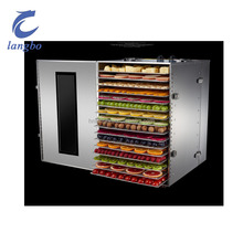 Efficient and durable 16 tray stainless steel fruit and vegetable dryer