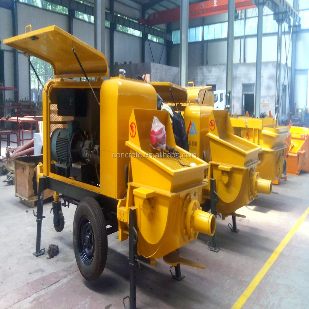 competitive prices China concrete pumps diesel engine 15m3/h output Alibaba supplier hot sale