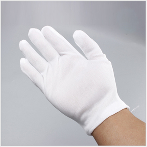 White TC cotton non slip gloves etiquette work safety gloves