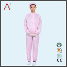 Pink Esd cleanroom anti-static overall workwear