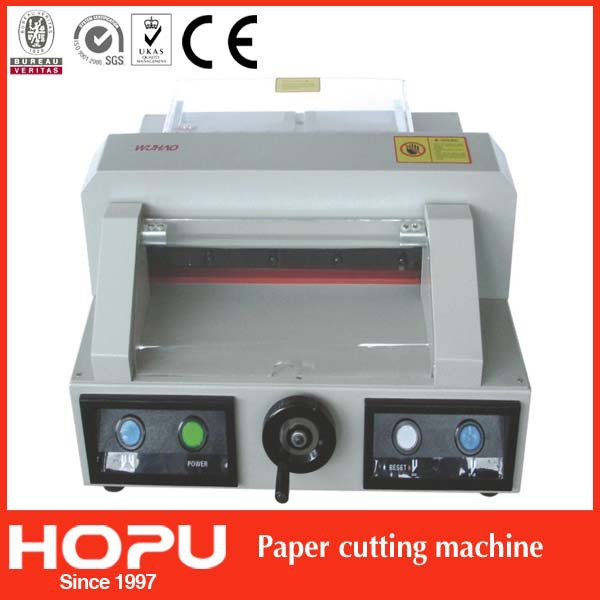 HOPU hydraulic paper cutter for shapes automatic paper cutter for shapes