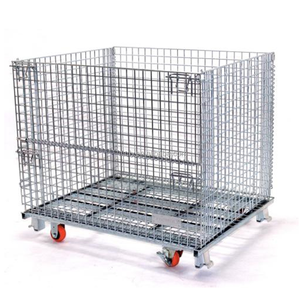 Foldable Wire Storage Container Metal Collapsible Cage - Buy ...