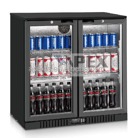 High Quality double glass door beer back bar coolers fridge chiller