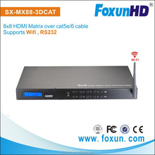 SX-MX88-3DCAT with WIFI 1080P 3D Video HDMI Matrix 8x8 over Dual Cat5e/6 up to 30m