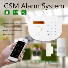 Shenzhen Golden security GSM alarm system S2G !!Home burglar alarm control panel with easy to add wireless accessories