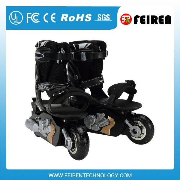 2016 Electric remote control skate shoe roller skate motorized shoes