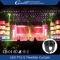 P12 Flexible LED Mesh Curtain Commercial Sign Panel